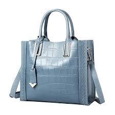fmeida womens leather handbag work tote satchel bag female purse gift for women b07d8hr4tg