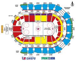 Spokane Arena Seating Chart Shock 2019