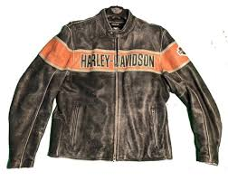harley davidson men s victory lane distressed leather jacket xl 98057 13vm