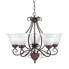 globe electric beatrice 5 light weathered bronze chandelier with alabaster glass shades