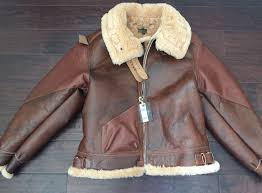 details about eastman leather jacket horsehide shearling type b 3 rough wear 17756 sz 44