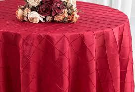 120 seamless round pintuck taffeta tablecloth apple red 60908 1pc pk