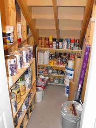 Add shelves under the stairs. Maybe not store flammable items there,  though. leave room on floor for larger items.