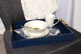 Decorative Serving Trays With Handles Kate and Laurel Lipton Decorative Serving Tray with Polished Metal 58