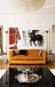 Orange Sofa Living Room The 25 Best Ideas About Orange Sofa On Pinterest Orange Sofa