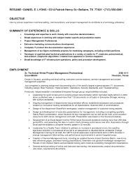 Writing Resume Objective Science Resume Service Technical Writing Resume Objective jobsxs 27