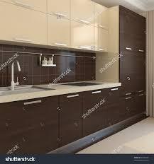 Kitchen Interiors Modern Kitchen Interior 3d Render Stock Illustration 64967665