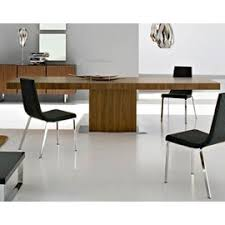 wood extendable dining table walnut modern tables: the park extension dining table is an elegant modern formal dining table with dual extending leaves it resembles the parentesi table but has a pedestal
