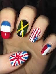 England Flag Nail Designs Flag Nail Art Uk France Jamaica Usa Czech Republic