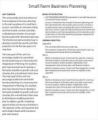example of a business plan farm business plan template 9 free sample example format
