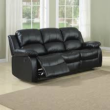 Black faux leather sofa Deliah Homelegance Cranley Casual Black Faux Leather Reclining Sofa Lowes Homelegance Cranley Casual Black Faux Leather Reclining Sofa At