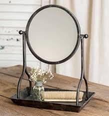 antique vanity tray mirror