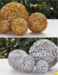 Wicker Balls For Decoration Extraordinary 32pcs Handmade Rattan Wicker Balls Vase Filler Table Scatter Wedding