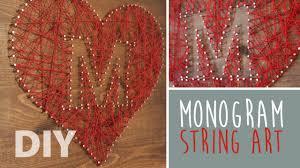 Diy String Art Diy Monogram String Art Youtube