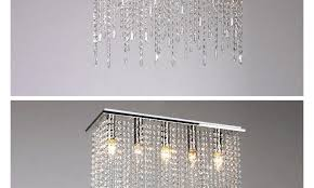 modern crystal square chandelier light lamp lighting fixtures with led bulbs l520 w190 h590mm