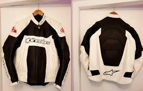 alpinestars leather motorbike jacket size l xl