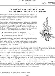 Principles Of Floral Design Review Questions Answers Forms And Functions Of Flowers And Foliages Used In Floral
