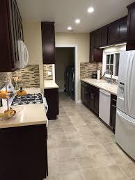 kitchen white appliances dark countertops or cabinets with regard to