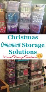 lots of ornament storage solutions and ideas including both diy and product recommendations