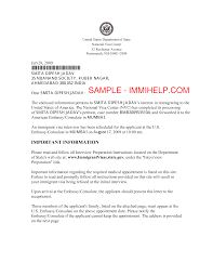 How To Write Appointment Letter Usa Visa Interview Appointment Letter Templates At
