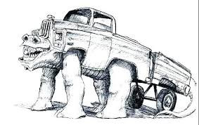 Coloring Pages Of Monster Trucks Free Grave Digger Coloring Pages