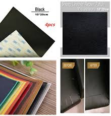 4pcs self adhesive leather repair patch for car seat cover sofa handbags jackets