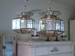 beveled glass chandelier pair vintage pink clear beveled glass chandeliers antique beveled glass chandelier makeover