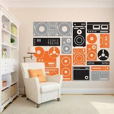 200x155cm extra large music equipment wall art decor stickers custom vinyl wall sticker music  on custom vinyl wall art stickers with 200x155cm extra large music equipment wall art decor stickers
