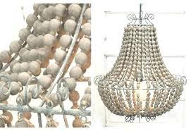 wood bead chandelier nursery antique whitewash wooden white home improvement drop dead gorgeous chand full size