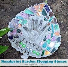 handprint garden stepping stones you