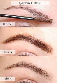while there are at home kits since the dye is being applied so close to the eyes many people decide to get them done professionally in order to avoid