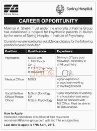 spring hospital institute of psychiatry multan jobs for spring hospital institute of psychiatry multan jobs