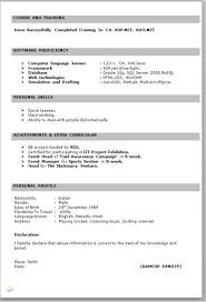 Word Format Resume Fresher And Maker Freshers Best Professional