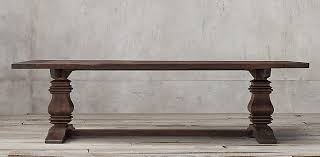restoration hardware table. Salvaged Wood Trestle Collection Restoration Hardware Table E