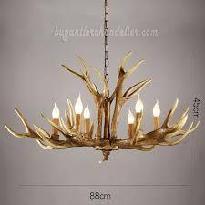6 cast elk antler chandelier six candle style pendant lights rustic lighting home decorating 34 6