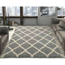 ultimate gy contemporary trellis design grey 8 ft x area rug brown rugs for living room