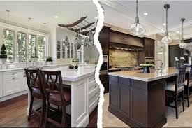 Dark Kitchen Dark Kitchen Cabinets Vs White Quicuacom