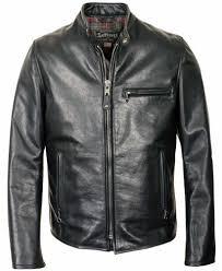 schott nyc mens 530 waxy cowhide cafe racer jacket