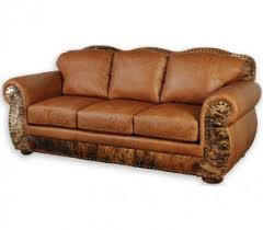rustic leather sofa. Western Leather Furniture Interest Rustic Sofa