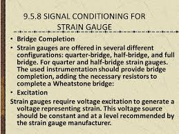9 5 8 signal conditioning for strain gauge