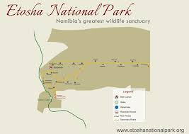 Namibia Distance Chart Etosha National Park Map Distances