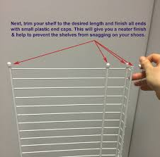 how to install a shoe rack