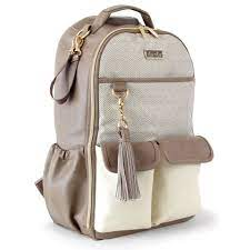 Itzy Ritzy Vanilla Latte Boss Diaper Bag Backpack – The Nurturing Elephant