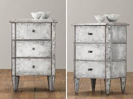rustic mirrored bedside table bedroom furniture bedside cabinets mirror antique