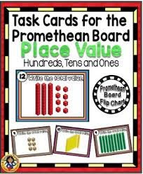 Place Value Flip Chart Promethean Task Cards For The Promethean Board Place Value