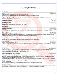 Entry Level Consultant Sample Resume Zoomdojo