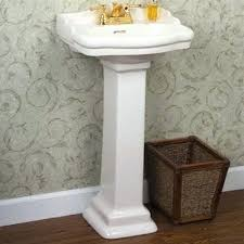 mini pedestal sink. Interior And Furniture Design: Remarkable Small Pedestal Sink In Cheviot Mayfair C511SWH4 S Vintage Tub Mini L