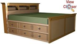 High Storage King Bed Woodworking Plans