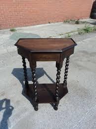 telephone hall table. Antique Oak Barley Twist Hall Table Telephone E