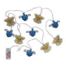 Light Up Hanukkah Necklace Hanukkah Character String Lights Decorations Light Up Chanukah Menorah Candles Dreidel